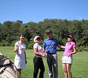 Intensive golf programme and lessons to get the Green Card