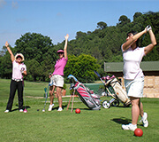 Golf introductory and discovery of the course